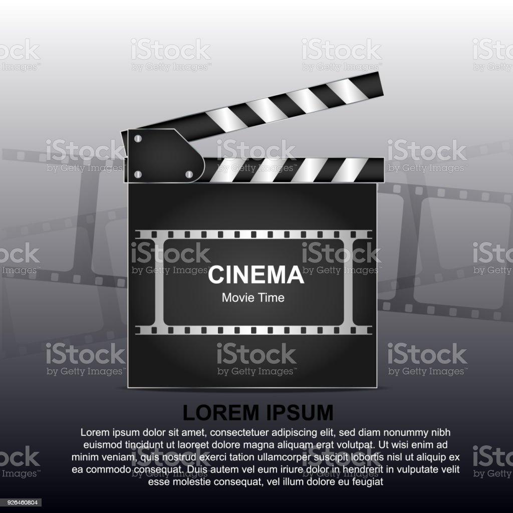 Filmposter Oder Flyer Vorlage Onlinekino Hintergrund Mit Film Reel ...