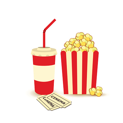 Movie Poster Template Popcorn Soda Takeaway Cinema Tickets Cinema Design Elements Stock Illustration Download Image Now Istock