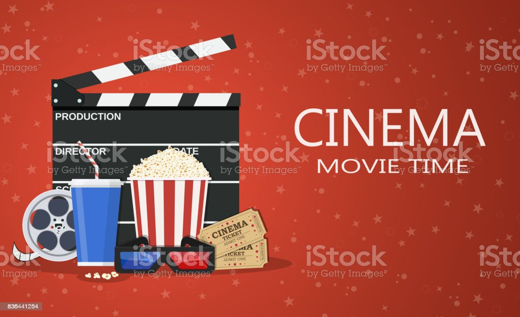 movie poster template stock vector art more images of 3 d glasses