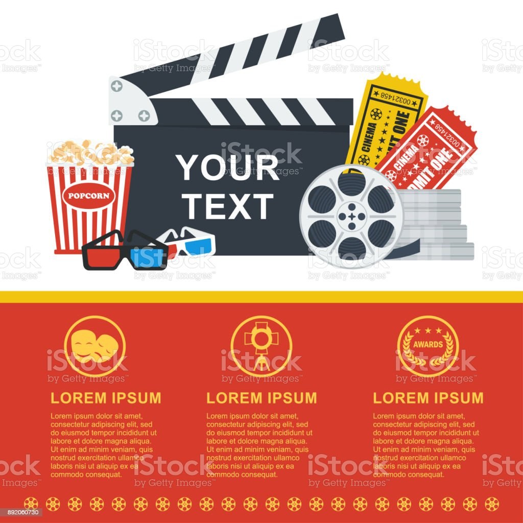 movie poster template stock vector art more images of abstract