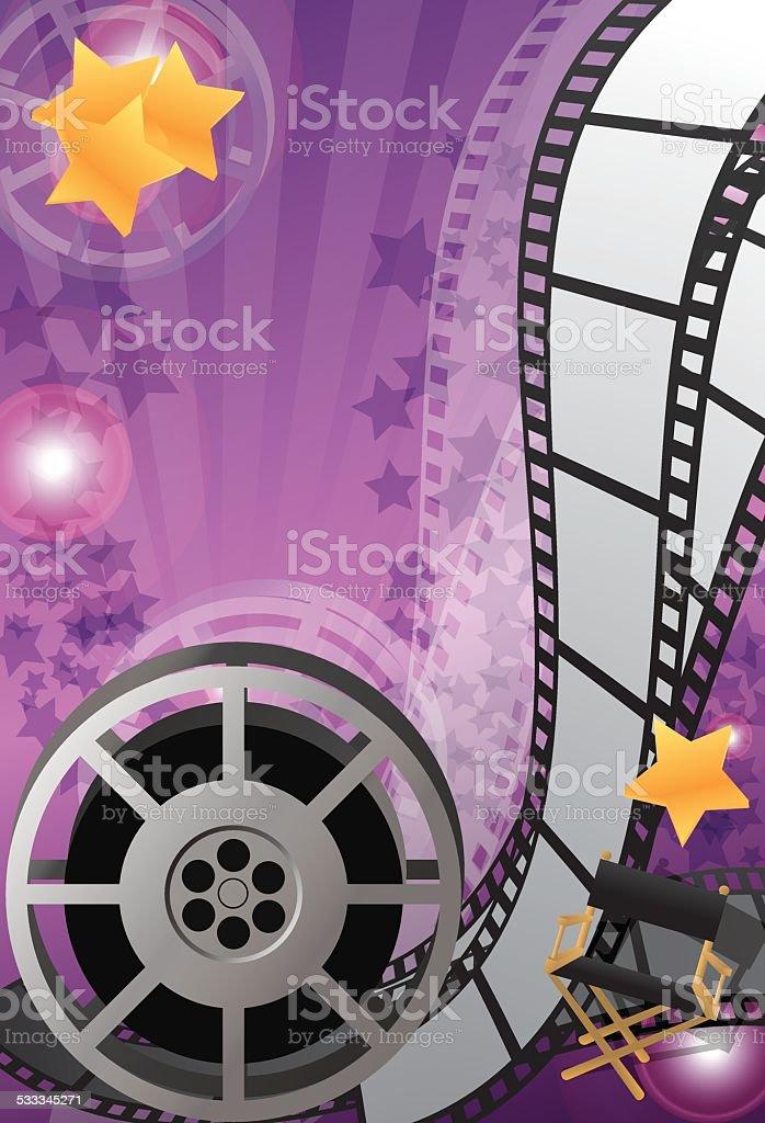 Movie poster vector art illustration
