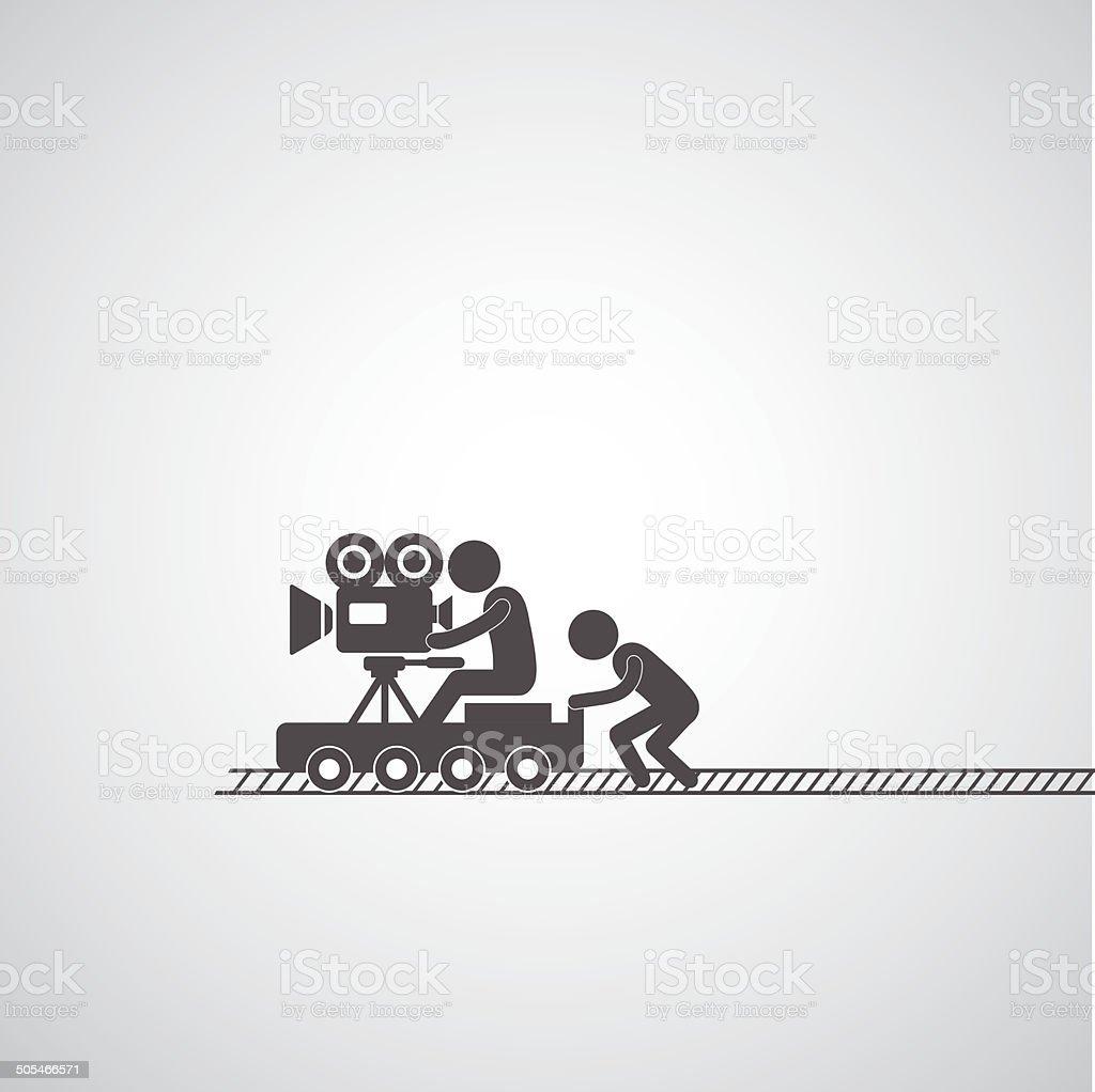 movie production symbol vector art illustration
