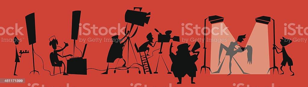 Película unidad de producción - ilustración de arte vectorial