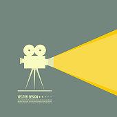 Movie projector vector illustration.