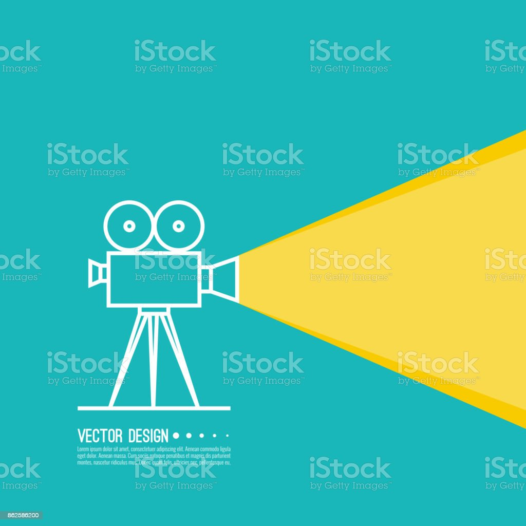 Movie projector vector illustration. vector art illustration