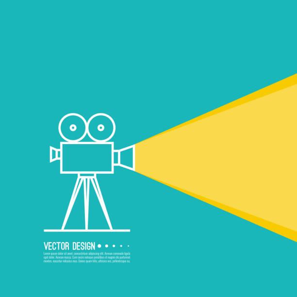 film-projektor vektor-illustration. - film stock-grafiken, -clipart, -cartoons und -symbole