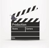 Illustartion of movie realistic theme eps 10 isolated on white