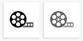 istock Movie Reel Black and White Square Icon 1148837069