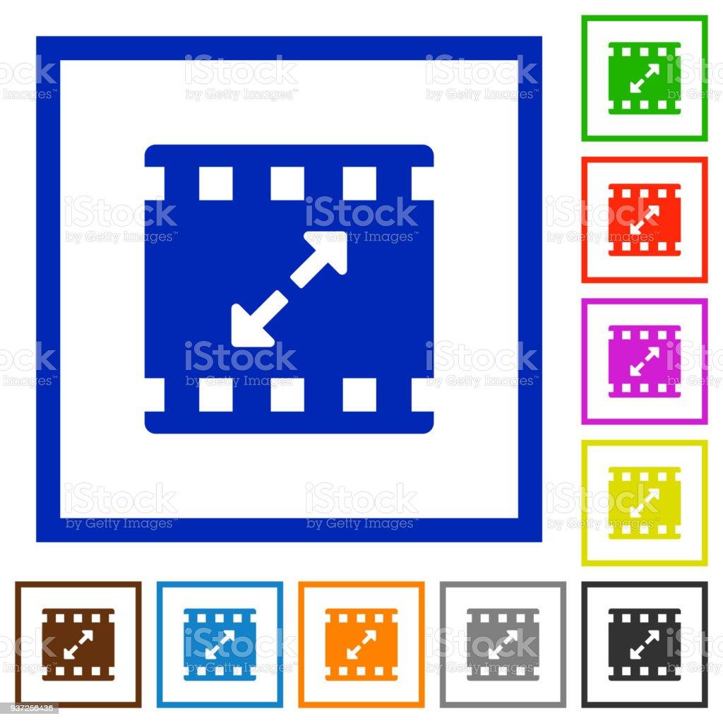 Film Größe Große Flache Gerahmte Icons Stock Vektor Art und mehr ...
