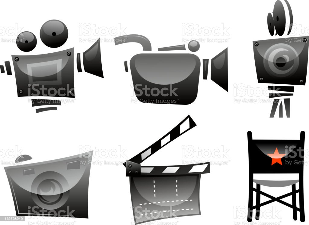 movie symbols royalty-free stock vector art