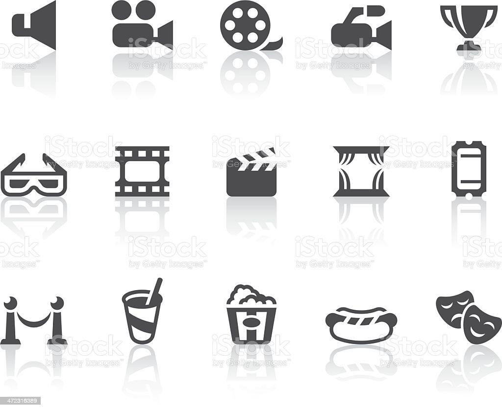 Kino-Icons/einfache schwarz-Serie – Vektorgrafik
