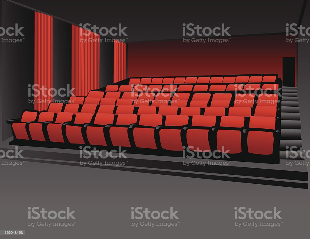 Movie Theater vector of movie theater taken from my own photo. AI file included. Absence stock vector