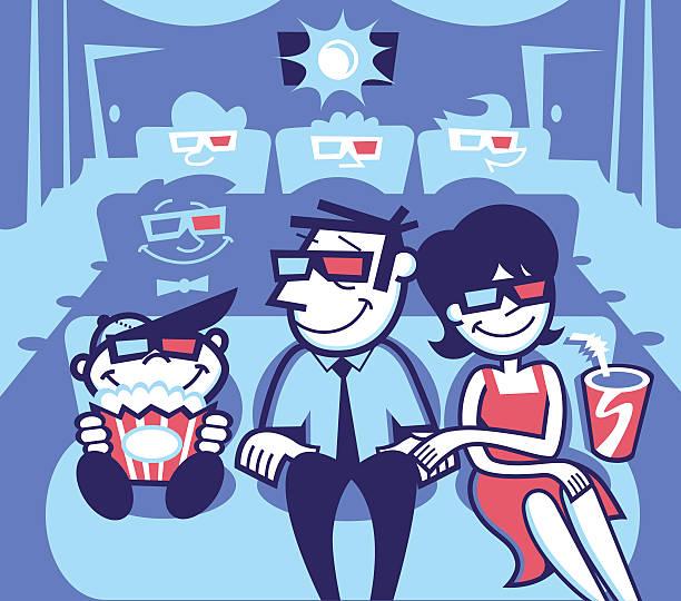movie theater - peter bajohr stock illustrations