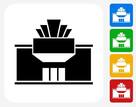 Movie Theatre Icon Flat Graphic Design