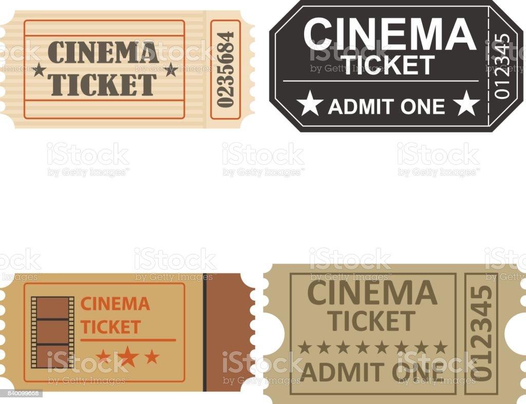 Een Film Ticket Een Retro Bioscoopkaartje Een Bioscoop