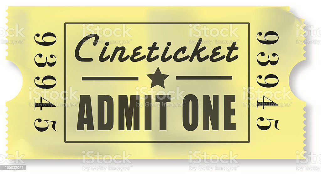 Movie Ticket royalty-free movie ticket stock vector art & more images of activity