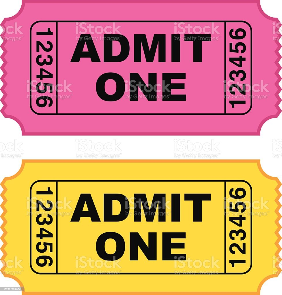 movie ticket vector stock vector art more images of admit one rh istockphoto com