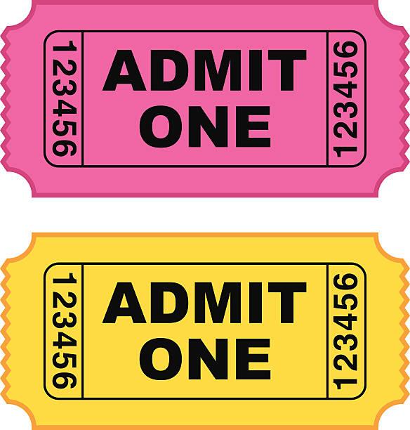 Movie ticket - VECTOR vector art illustration