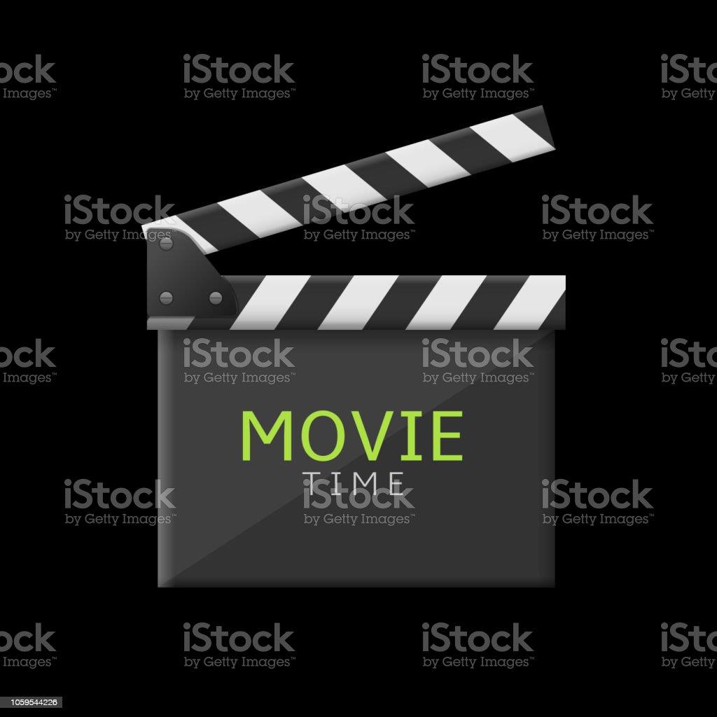 Movie time clapper board