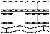 Film strip in vector