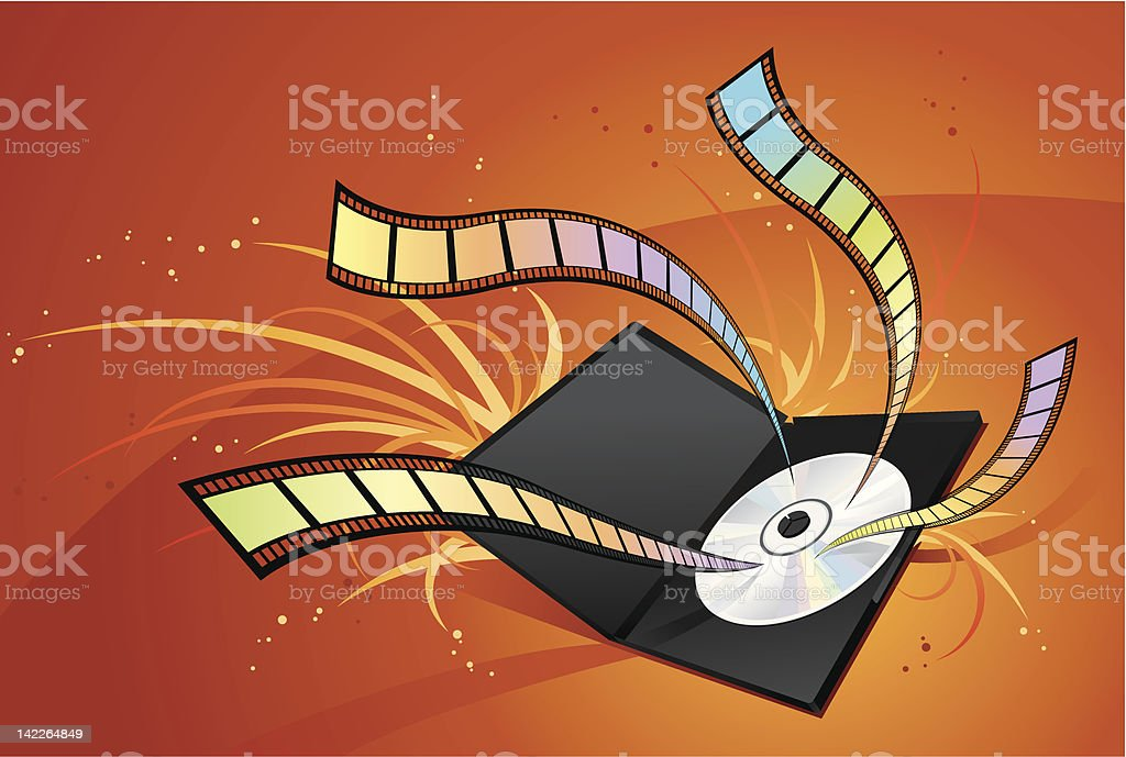 DVD - Movie royalty-free stock vector art