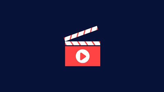 Movie, video play, theater, cinema icon