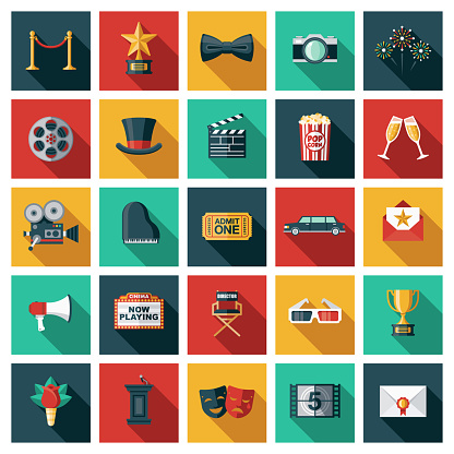 Movies and Filmmaking Icon Set