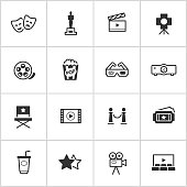 Movies & Cinema Icons — Inky Series