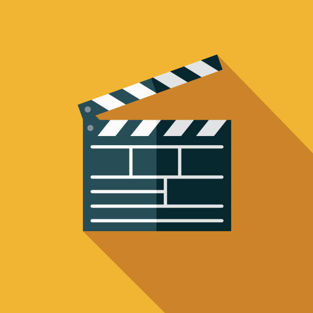 movies flat design arts icon with side shadow - movies stock illustrations