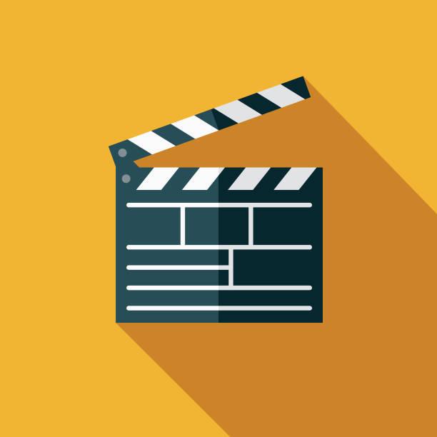 illustrazioni stock, clip art, cartoni animati e icone di tendenza di movies flat design arts icon with side shadow - cinema