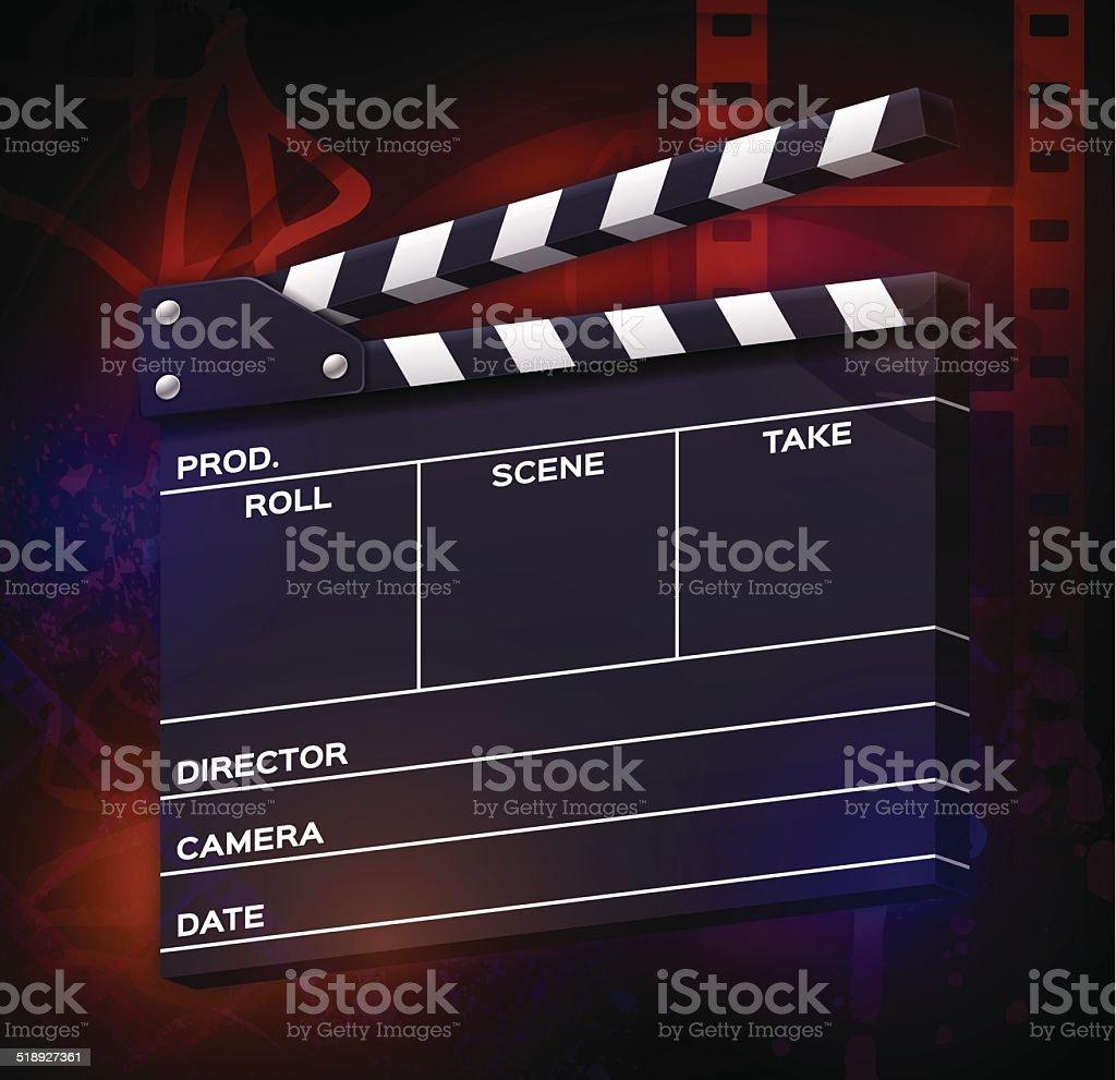 Movies vector art illustration