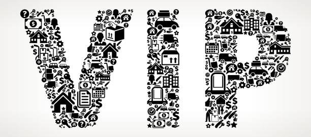 VIP verschieben und Relocation Symbol Muster – Vektorgrafik