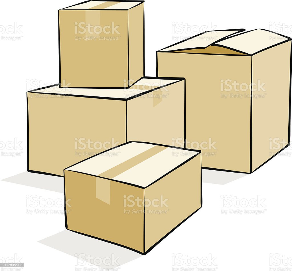 Moving Boxes Stock Vector Art More Images Of