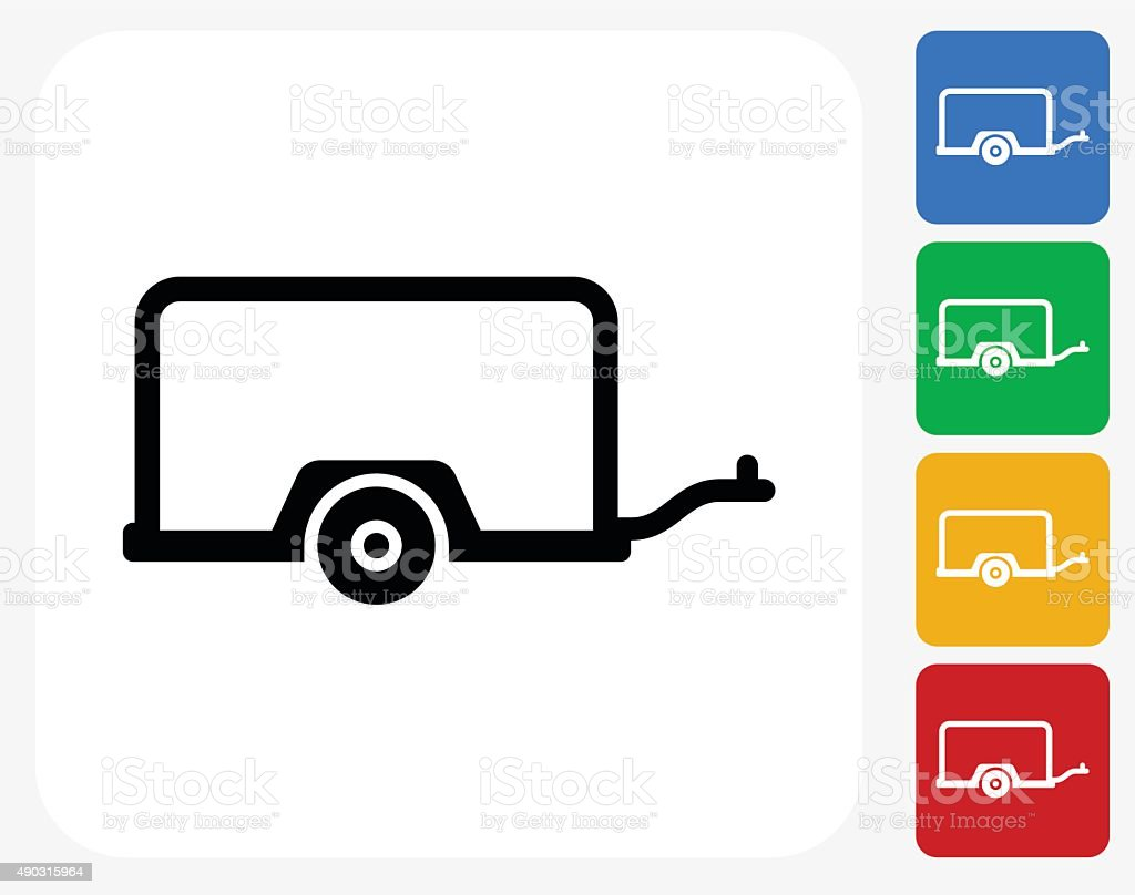 Moving Carriage Icon Flat Graphic Design vector art illustration
