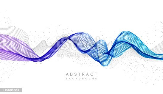 istock Moving colorful abstract background. Dynamic Effect. Vector Illustration. Design Template. 1190858541