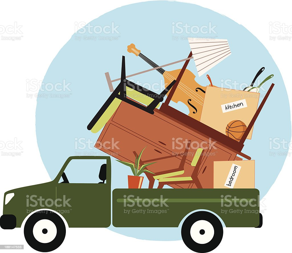 Moving day vector art illustration