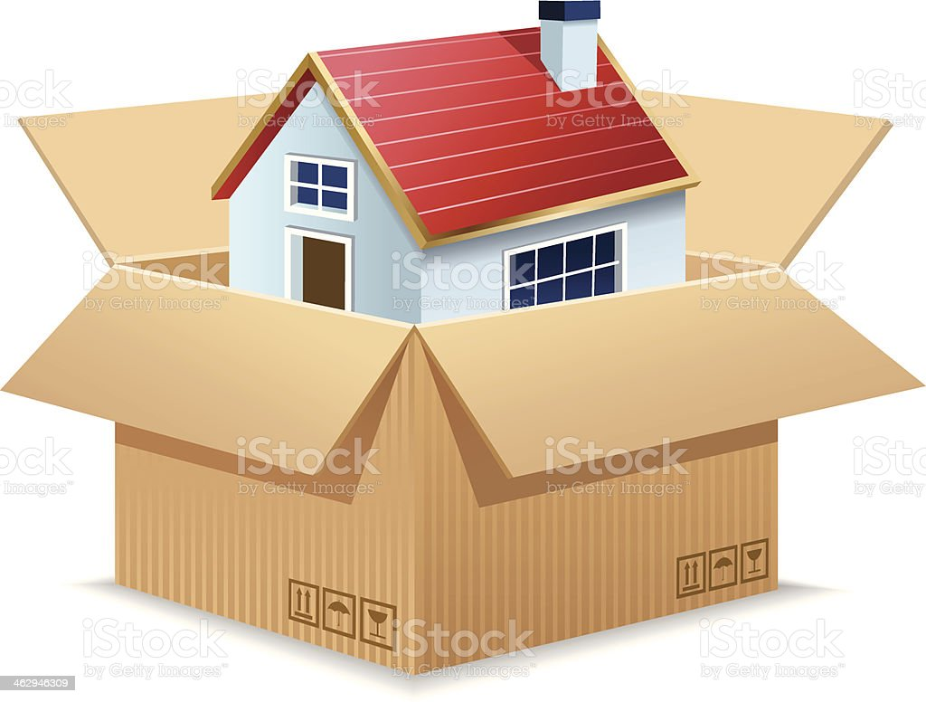 Moving House vector art illustration