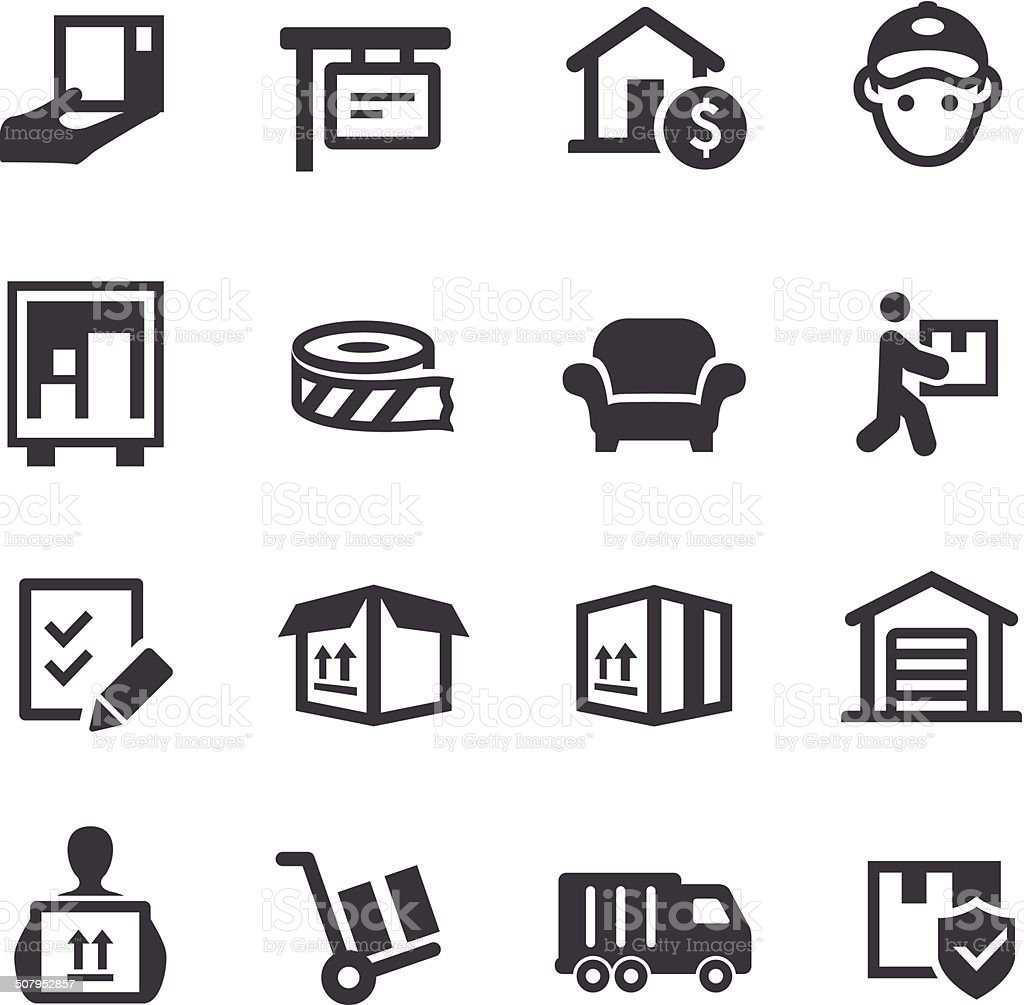Moving Icons - Acme Series vector art illustration