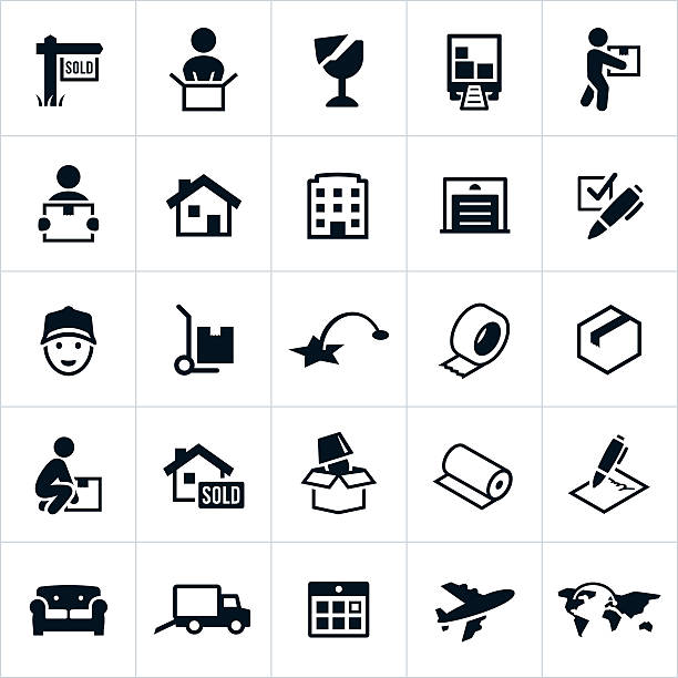 moving icons - new home stock illustrations, clip art, cartoons, & icons