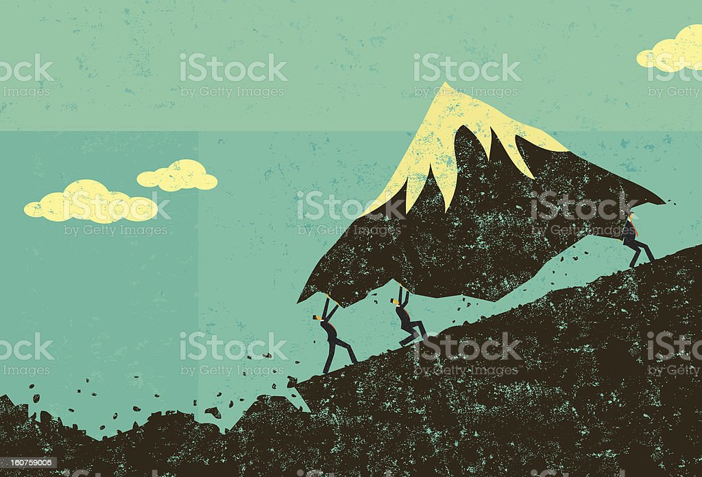 Moving Mountains vector art illustration