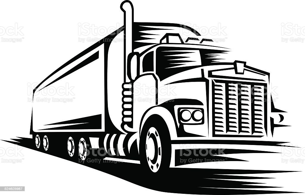 Moving truck vector art illustration