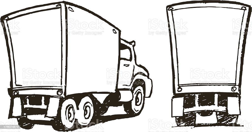 Moving Trucks - Cartoon Style royalty-free moving trucks cartoon style stock vector art & more images of black and white