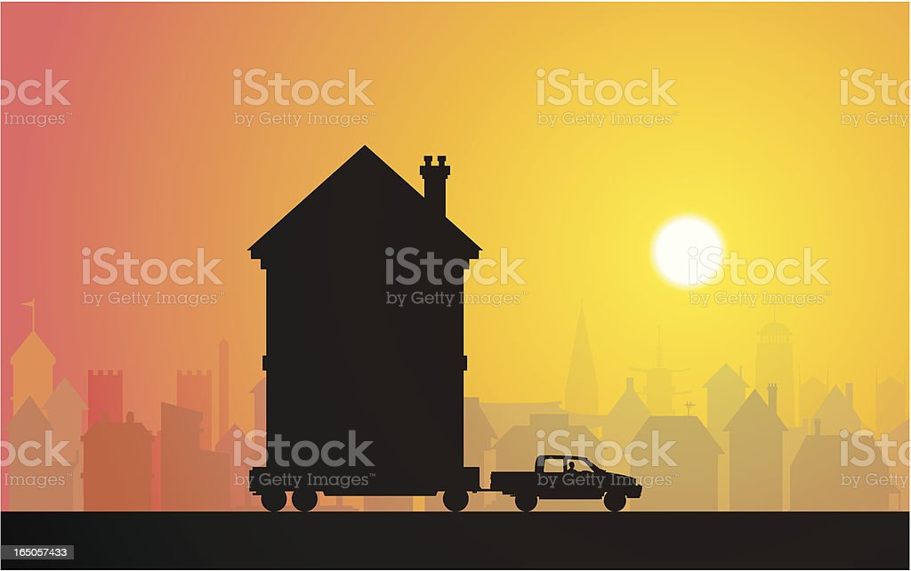 Moving royalty-free stock vector art