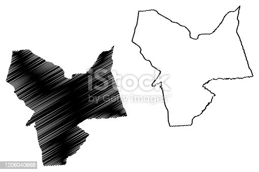 istock Moyen-Chari Region map 1206040668