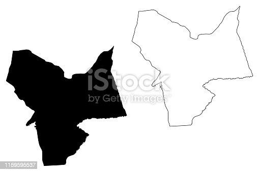 istock Moyen-Chari Region (Regions of Chad, Republic of Chad) map vector illustration, scribble sketch Moyen Chari map 1159595537