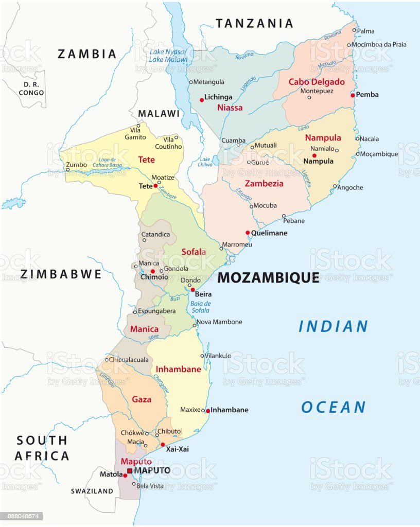 Mozambique administrative and political map stock vector art mozambique administrative and political map royalty free stock vector art gumiabroncs Image collections