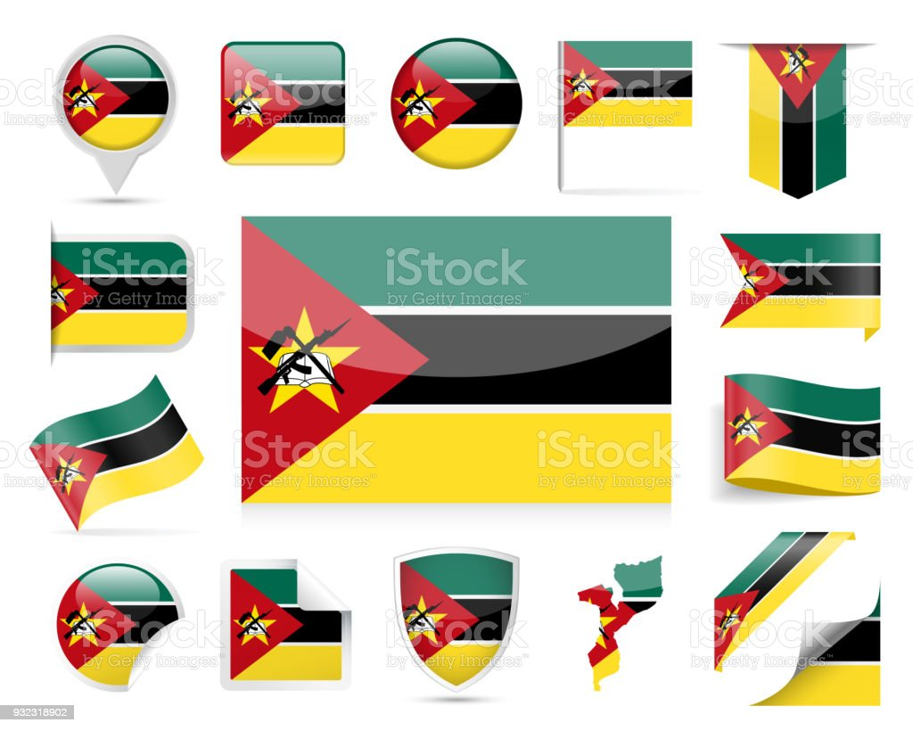 mozambique flag vector set stock vector art more images of award rh istockphoto com flag vector file flag vector file