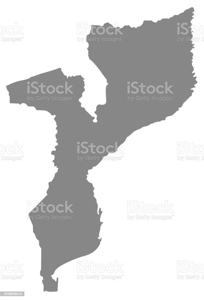 Mosambik Karte.Mosambik Karte Stock Vektor Art Und Mehr Bilder Von Afrika