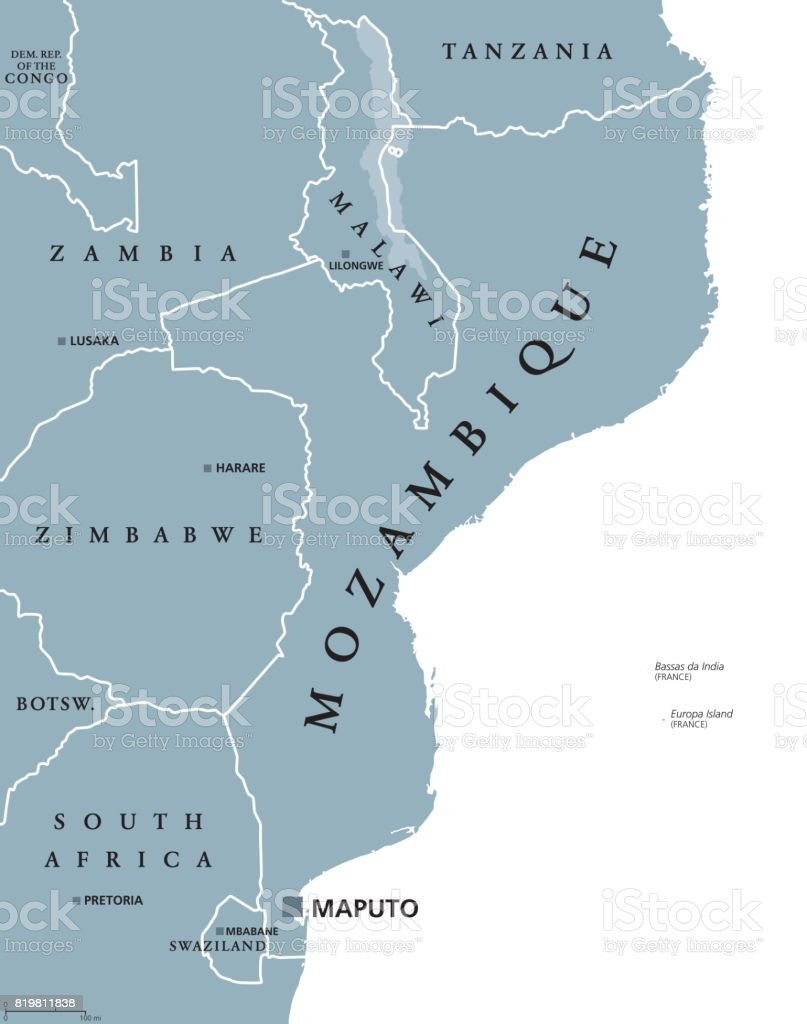 Mosambik Karte.Politische Karte Von Mosambik Stock Vektor Art Und Mehr Bilder Von
