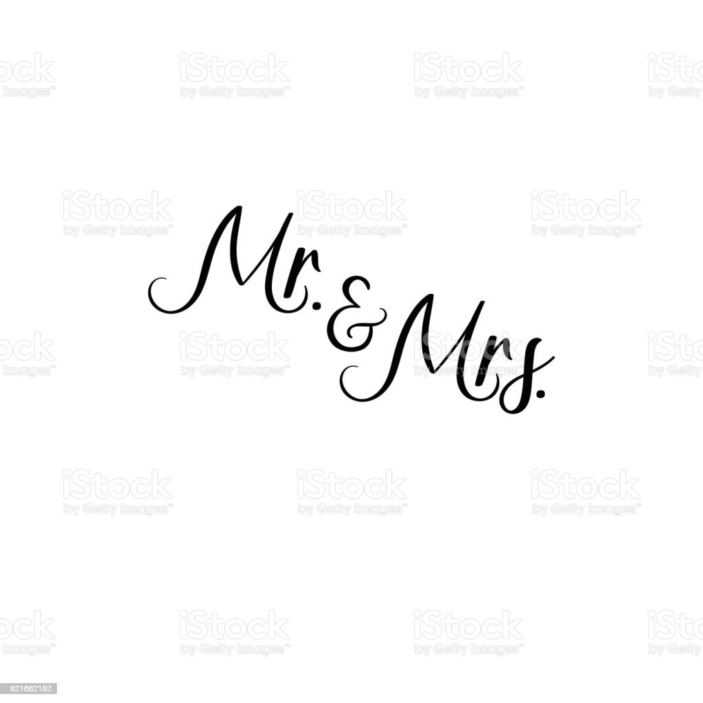 Mr And Mrs Handwritten Calligraphy For Greeting Cards Wedding ...